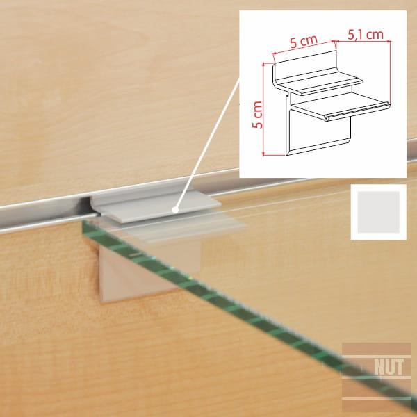 Uchwyt Aluminiowy Pod Półki Szklane